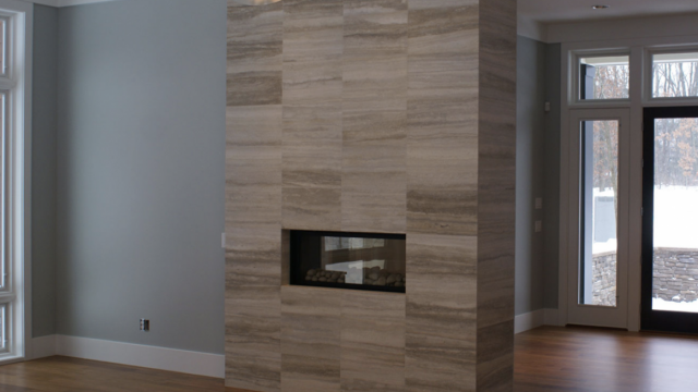 Custom fireplace tile Kalamazoo Michigan
