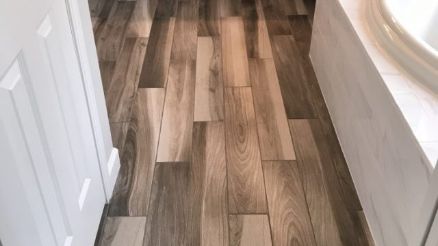 Custom wood-look tile southwest Michigan
