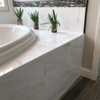 Custom tile tub surround