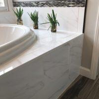 Custom tile tub surround