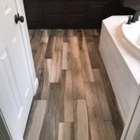 Custom wood-look tile southwest Michigan