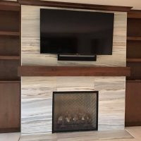 custom fireplace tile