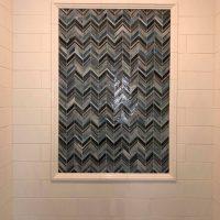 custom tile shower inlay